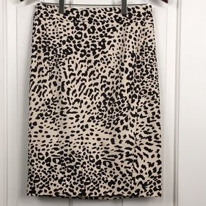 Loft Animal Print Pencil Skirt